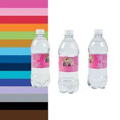 Custom+Photo+Wedding+Water+Bottle+Labels+-+OrientalTrading.com