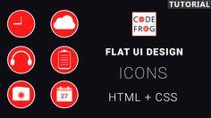 Ui Design Tutorial, Design Tutorials, Flat Ui, Icon Design, Watch, Youtube, Clock, Bracelet Watch, Clocks