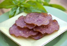 Baked Genoa Salami Crisps - interesting idea. . . maybe