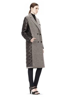 【T by ALEXANDER WANG】 DONEGAL & NYLON QUILTED COMBO REVERSIBLE COAT  $ 697.00 Coats For Women, Jackets For Women, Tailored Coat, Donegal, Alexander Wang, Outerwear Jackets, Duster Coat, Ready To Wear, Fashion Accessories