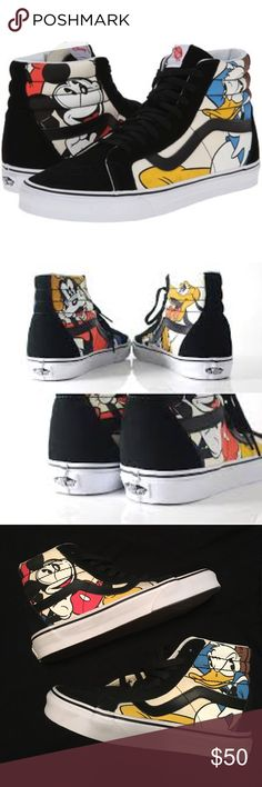 1deb959ac3 Vans Disney SK8-Hi Mickey   Friends Skate Shoes   Limited edition   Disney  themed