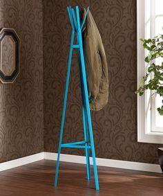 Berry Blue Hall Tree Coat Rack