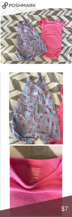 Carter's Baby Girl 18 Month Outfit Carter's Baby Girl 18 Month Outfit, worn once. In excellent condition. Smoke free/Pet free home. Carter's One Pieces
