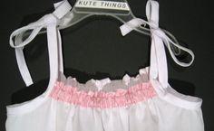 Toddler baby White Summer Dress White Dress Girl by KuteThings, $25.00
