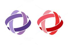 Technology orbit web rings logo by Vector-Stock on Creative Market Web Design Icon, Graphic Design, Ring Logo, Best Graphics, Typography Logo, How To Draw Hands, Symbols, Creative, Vector Stock