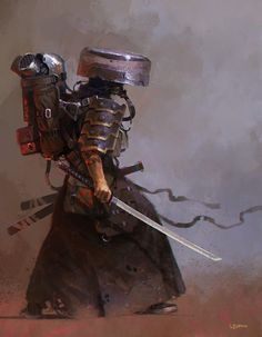 Post Apocalyptic Ronin, giorgio baroni on ArtStation at https://www.artstation.com/artwork/B26N9