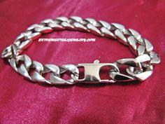 316L Stainless Steel Bracelet Smooth Cut Cuban Bracelet Mirror Finish 13mm