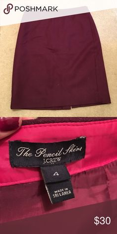 J.Crew Pencil Skirt J.crew wool pencil skirt. Size 4 J. Crew Skirts Pencil