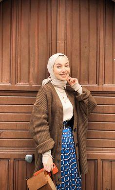 Modern Hijab Fashion, Muslim Fashion, Modest Fashion, Fashion Dresses, Casual Hijab Outfit, Hijab Chic, Casual Outfits, Hijab Moda, Mode Hijab