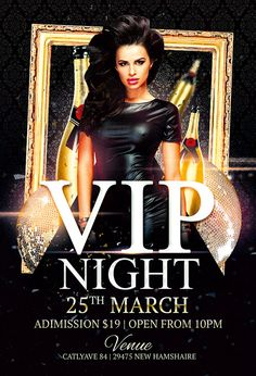 "Plantilla gratis PSD ""Vip Night Club"""