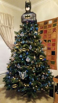 Hulk christmas tree!! We do a theme every year. This year we ...