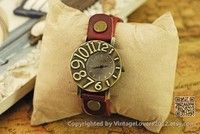 Leather Wrist Woman Watch (WAT0042-LIGHTBROWN )
