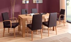 The balance design and the natural beauty of wood. The T6 table and Sedia chairs - designed by Klose #interiordesign #homedecor #KloseFurniture, #seating #chair #woodfurniture