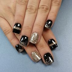 New Year Nail Designs Idea happy new year eve nail art nails nails nail designs New Year Nail Designs. Here is New Year Nail Designs Idea for you. New Year Nail Designs nagel new years nail art 2375353 weddbook. New Year Nail Desi. New Year's Nails, Gold Nails, Fun Nails, Gold Glitter, Nails 2016, Glittery Nails, Glitter Art, Gold Sparkle, Winter Nail Art