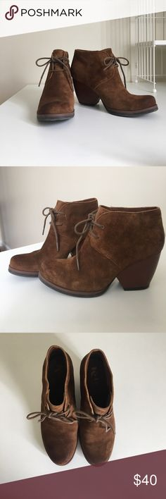 Kork-Ease 6.5 suede bootie Kork-Ease 6.5 suede bootie. Only worn a few times. Beautiful brown suede. kork-ease Shoes Ankle Boots & Booties
