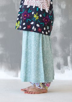 """""""Mollis"""" skirt in micromodal This skirt is perfect for both casual and special occasions Sweet and simple style with elastic waist. Printed in two colors on soft jersey in micromodal. Standard fit. Item number 63702 Price $ 68 (customs duties included)"""
