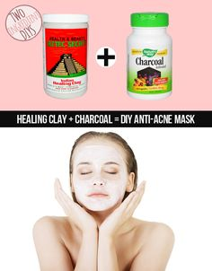 Calm your skin with a healing two-ingredient anti-acne mask.