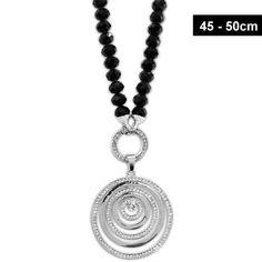 Schwarze Damen Halskette mit Zirkoniastein Piercing, Pendant Necklace, Jewelry, Fashion, Glass Beads, Fashion Jewelry, Neck Chain, Black, Moda