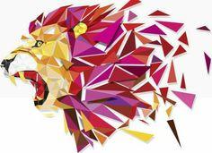 Lion Poly Low