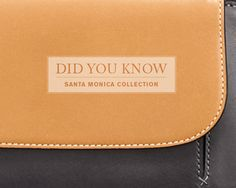 "DID YOU KNOW: The Santa Monica collection is crafted from a mix of the finest leathers? Leathers that age beautifully over time and develop a rich and unique finish when exposed to sunlight and the natural oils from your skin make this collection truly ""X-traordinary""."