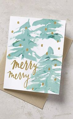 Merry Merry Card #anthrofave