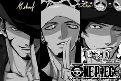 By @One__Bab (twitter) - Yesssss <3 Mihawk, Law, and Ace from One Piece