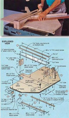 Table Saw Miter Jig - Table Saw Tips, Jigs and Fixtures | WoodArchivist.com