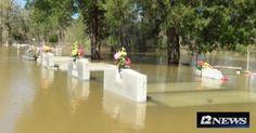 #Louisiana #flooding #unearths caskets...