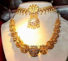 Rudraksh Design Gold Balls Mala