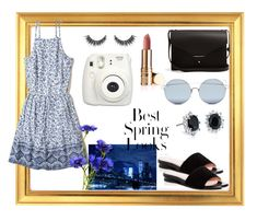 """summer of blue II"" by miri-rose03 ❤ liked on Polyvore featuring Hollister Co., Taryn Rose, PB 0110, For Art's Sake, Blue Nile, Fujifilm and H&M"
