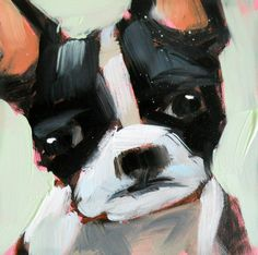 boston terrier open edition print by angela moulton 6 x 6 inch Art Prints, Boston Terrier Art, Animal Art, Dog Print Art, Boston Art, Original Fine Art, Illustration Art, Art, Animal Paintings
