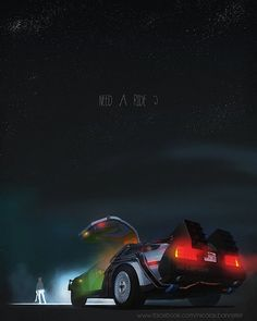 Happy #BacktotheFuture day! Today is the day #MartyMcFly goes to in 2015 in #BackToTheFutureII! We have a whole day of awesome posts coming up. Join us in celebrating one of our favorite #scifi  #movie trilogies! Tag @petesbasement in your #backtothefutureday posts. Check out this bad ass piece from the series Iconic Movie Cars: Illustrations by Nicolas Bannister #movies #Doc #robertzemeckis #hoverboard #fluxcapacitor #michaeljfox #christopherlloyd
