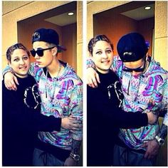 Justin with a fan in Miami. (April 10th, 2014)