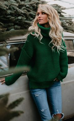 $36.99! Fashion Casual Solid Color Sweater fall fashion Christmas sweater top