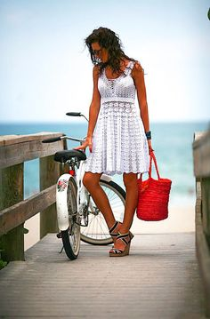 CROCHET FASHION TRENDS exclusive white crochet summer dress - made to order