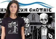 american gmothic women's black tshirt