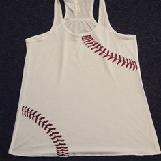 baseball tank, baseball stitches, baseball mom by Rocknmamadesigns on Etsy Custom Baseball Tees, Baseball Tee Shirts, Custom Tees, Baseball Mom, Mom Shirts, Softball, Athletic Tank Tops, My Style, Stitches