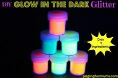Glow in the dark glitter... so many possibilities!