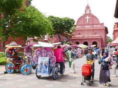 Christ Church, Malacca, Malaysia with the local 'bikes'