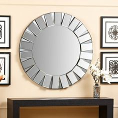 Abbyson Living Portico Round Wall Mirror | Overstock.com Shopping - Great Deals on Abbyson Living Mirrors