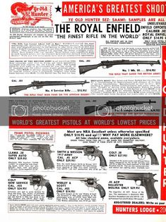 Weapons Guns, Guns And Ammo, Survival Rifle, Tactical Survival, Vintage Ads, Vintage Posters, Military Guns, Military Surplus, Old Advertisements