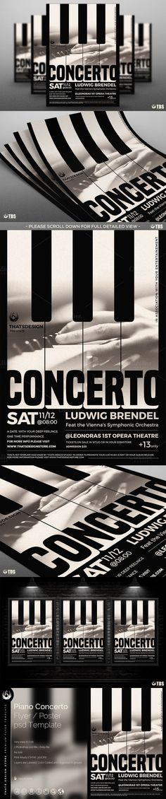 Piano Concerto Flyer Template V1. Flyer Templates. $9.00