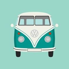 Clipart / Sea Green Camper Van by Graphic Nothing @ Some Prints