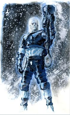 Mr. Freeze by Philip Tan....I wonder your wondering why I don't have the movie version of this villian...well the movie was horrid...and arnold was a terrible choice to play Mr. Freeze.