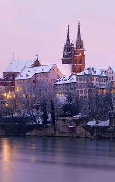 Basel in winter time, Switzerland Beautiful Sites, Beautiful World, Beautiful Places, Basel, Great Places, Places To See, Switzerland Cities, Canton, Paisajes