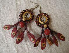 tribal gypsy circles  handmade earrings by 3LittleKittensStudio, $28.00