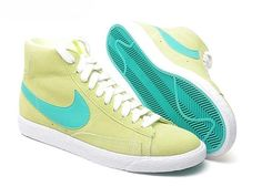 Nike Wmns Blazer Mid suede Liquid Lime New Green White 511486 331