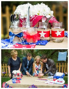DIY Patriotic Table Decor to make your Memorial Day the best yet! Catch #HomeAndFamily weekday mornings at 10/9c on Hallmark Channel!