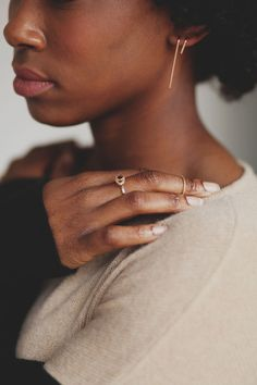 These earrings look amazing with a simple white tee.
