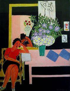 tremendousandsonorouswords: Henri Matisse, La liseuse sur fond noir, 1939